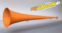original my vuvuzela, 2-teilig, orange | orange