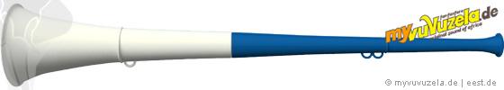 original my vuvuzela, 2-teilig, blau   weiß