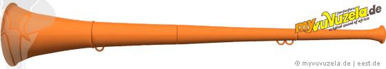 original my vuvuzela, 2-teilig, orange | orange