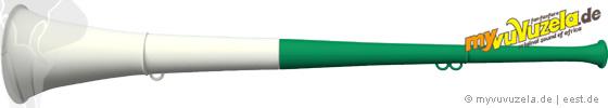 original my vuvuzela, 2-teilig, grün | weiß