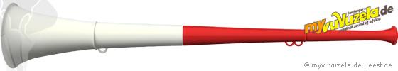 original my vuvuzela, 2-teilig, rot | weiß