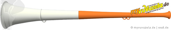 original my vuvuzela, 2-teilig, orange | weiß
