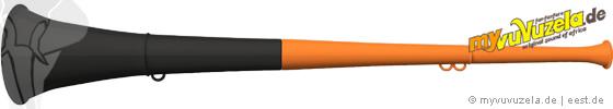 original my vuvuzela, 2-teilig, orange | schwarz