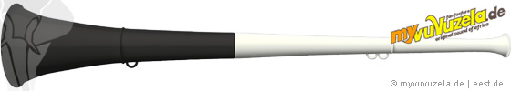 original my vuvuzela, 2-teilig, weiß | schwarz