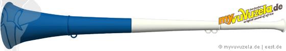 original my vuvuzela, 2-teilig, weiß | blau