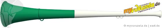 original my vuvuzela, 2-teilig, weiß | grün