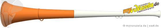original my vuvuzela, 2-teilig, weiß | orange