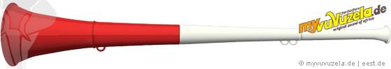 original my vuvuzela, 2-teilig, weiß | rot