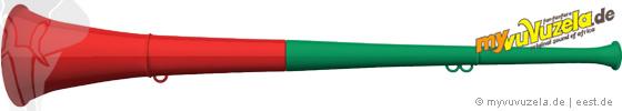 original my vuvuzela, 2-teilig, rot | grün
