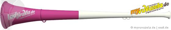 lady vuvuzela, 2-teilig, weiss-pink