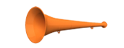 Vuvuzela 36cm orange