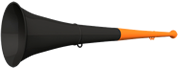 Vuvuzela 61cm orange-schwarz