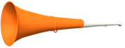Vuvuzela 61cm weiss-orange